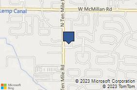 Bing Map of 3120 W Belltower Dr Ste 175 Meridian, ID 83646