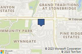 Bing Map of 3128 Hudson Xing Ste G1 McKinney, TX 75070
