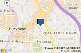 Bing Map of 3133 Maple Dr Ne Ste 100 Atlanta, GA 30305