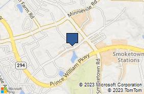 Bing Map of 3146 Golansky Blvd Ste 102 Woodbridge, VA 22192