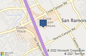 Bing Map of 3150 Crow Canyon Pl Ste 140 San Ramon, CA 94583