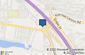 Bing Map of 31641 Auto Center Dr Ste 1a Lake Elsinore, CA 92530