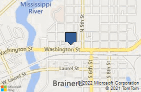 Bing Map of 317 Washington St Brainerd, MN 56401