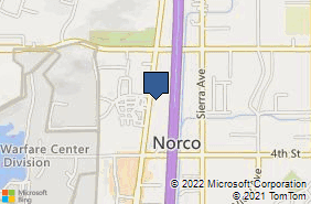 Bing Map of 3179 Hamner Ave Ste 2 Norco, CA 92860