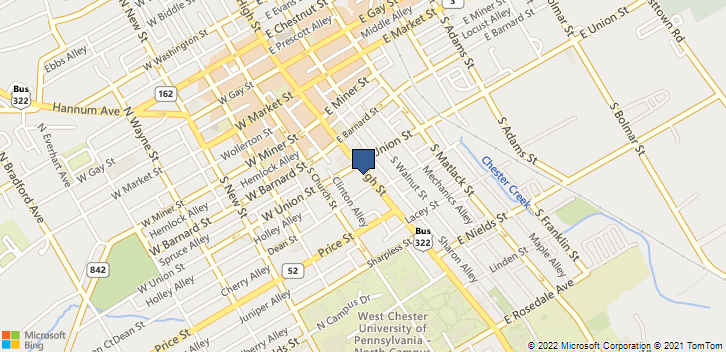318 S High St West Chester, PA, 19382 Map