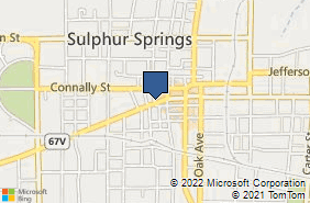 Bing Map of 319 Main St Sulphur Springs, TX 75482