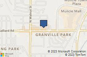 Bing Map of 320 E McGalliard Rd Muncie, IN 47303