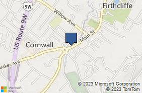 Bing Map of 320 Main St Cornwall, NY 12518