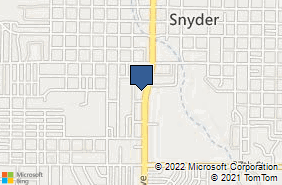 Bing Map of 3201 College Ave Snyder, TX 79549