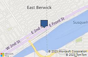 Bing Map of 321 E Front St Berwick, PA 18603