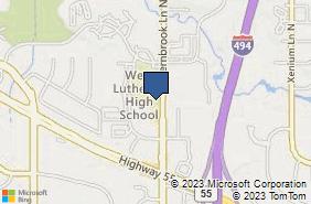 Bing Map of 3211 Fernbrook Ln N Plymouth, MN 55447