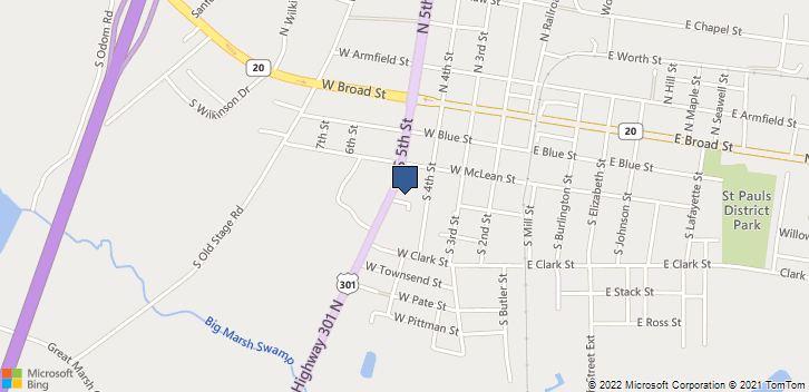 323 S 5th St  Saint Pauls, NC, 28384 Map