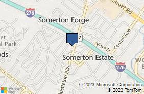 Bing Map of 326 Bustleton Pike Feasterville Trevose, PA 19053