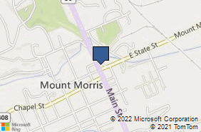Bing Map of 33 Main St Ste 2 Mount Morris, NY 14510