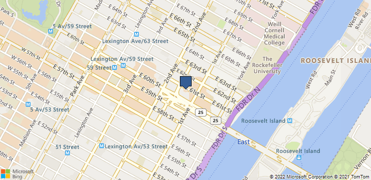 330 East 61st Street New York, NY, 10021 Map
