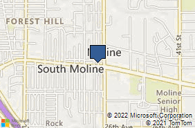 Bing Map of 3311 Avenue Of The Cities Moline, IL 61265