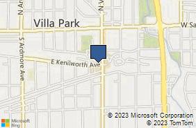 Bing Map of 332 E Kenilworth Ave Villa Park, IL 60181