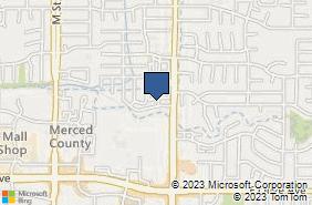 Bing Map of 3321 G St Ste A Merced, CA 95340