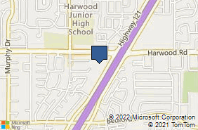Bing Map of 3324 Harwood Rd Bedford, TX 76021