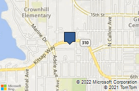 Bing Map of 3331 Kitsap Way Ste B Bremerton, WA 98312