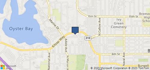 Bing Map of 3331 Kitsap Way Ste B Bremerton, WA 98312
