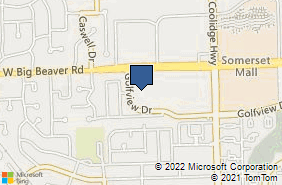 Bing Map of 3331 W Big Beaver Rd Ste 110 Troy, MI 48084
