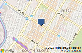 Bing Map of 336 9th St Brooklyn, NY 11215
