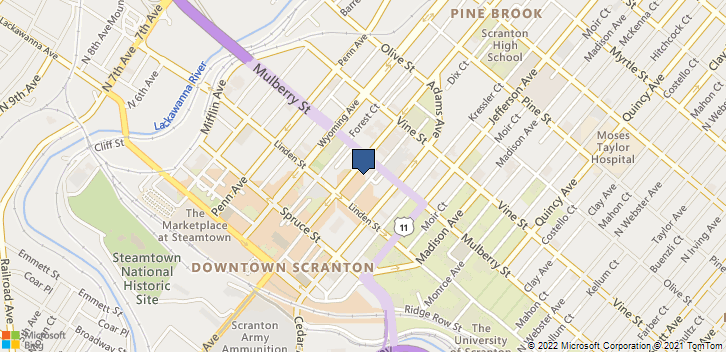 338 North Washington Avenue Scranton, PA, 18503 Map
