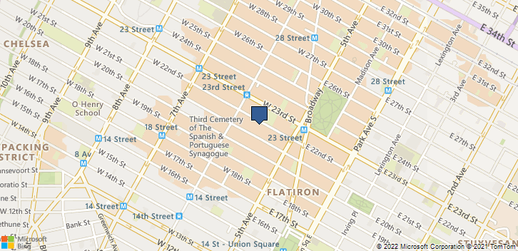 34 W 22nd St Fl 2 New York, NY, 10010 Map