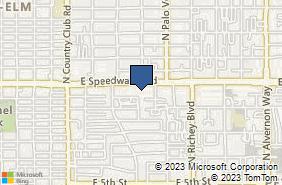 Bing Map of 3400 E Speedway Blvd Ste 202 Tucson, AZ 85716