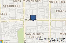 Bing Map of 3415 W Craig Rd Ste 201 North Las Vegas, NV 89032