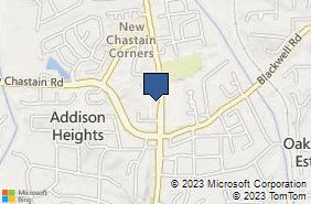 Bing Map of 3417 Canton Rd Bldg 7 Marietta, GA 30066