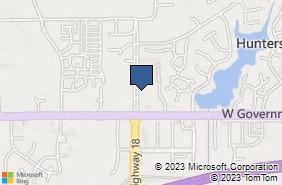 Bing Map of 344 Crossgates Blvd Brandon, MS 39042