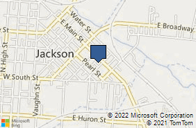 Bing Map of 345 E Main St Ste C Jackson, OH 45640