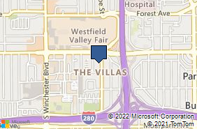 Bing Map of 349 S Monroe St Ste 10 San Jose, CA 95128