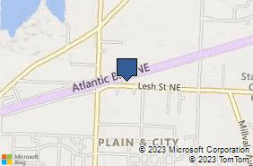 Bing Map of 3501 Lesh St Ne Canton, OH 44705
