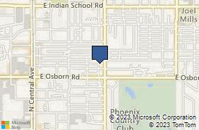 Bing Map of 3508 N 7th St Ste 115 Phoenix, AZ 85014