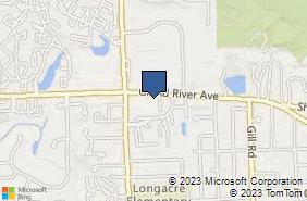 Bing Map of 35111 Grand River Ave Farmington, MI 48335