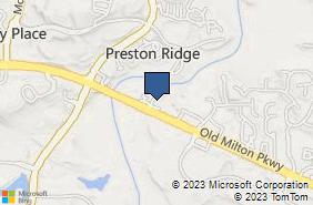 Bing Map of 3518 Old Milton Pkwy Alpharetta, GA 30005