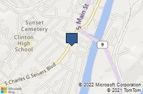 Bing Map of 356 S Charles G Seivers Blvd Clinton, TN 37716