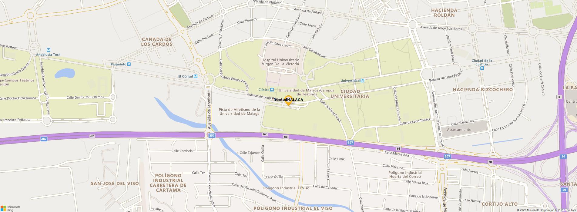 Bing Map of ETS Ingeniería Informática, Málaga