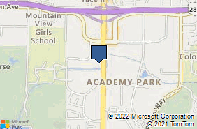 Bing Map of 3609 S Wadsworth Blvd Ste 116 Lakewood, CO 80235