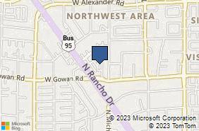 Bing Map of 3620 N Rancho Dr Ste 105 Las Vegas, NV 89130