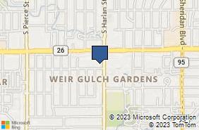 Bing Map of 363 S Harlan St Ste 112 Lakewood, CO 80226