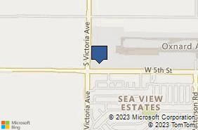 Bing Map of 3667 W 5th St Oxnard, CA 93030