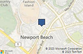 Bing Map of 369 San Miguel Dr Ste 375 Newport Beach, CA 92660