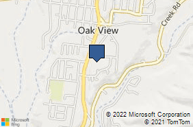 Bing Map of 370 Ventura Ave Oak View, CA 93022