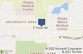 Bing Map of 3701 E Tudor Rd Ste 105 Anchorage, AK 99507