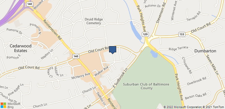 3701 Old Court Rd, Ste 22 Pikesville, MD, 21208 Map