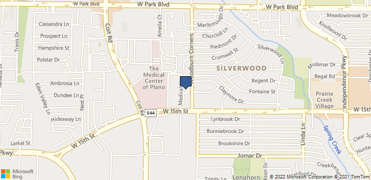 3709 W 15th St Plano, TX, 75075 Map